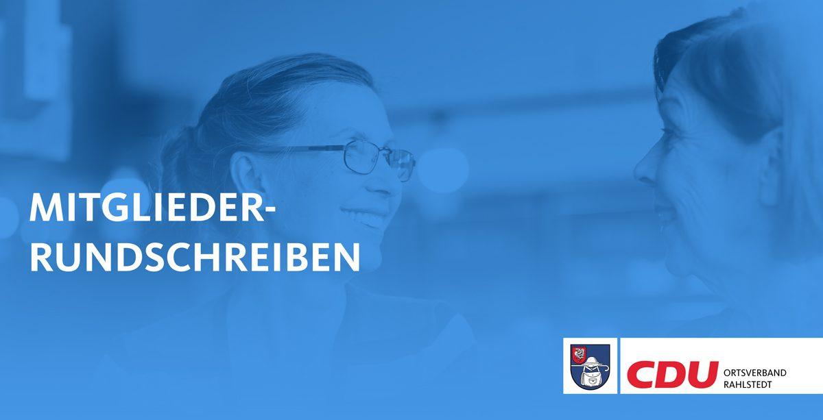 Titelbild Mitgliederrundschreiben Ortsverband Rahlstedt