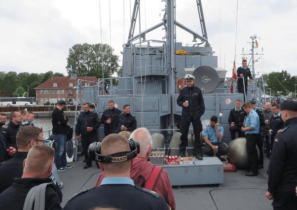 """Mit dem Minenjagdboot """"Datteln"""" auf Regattabegleitfahrt"""