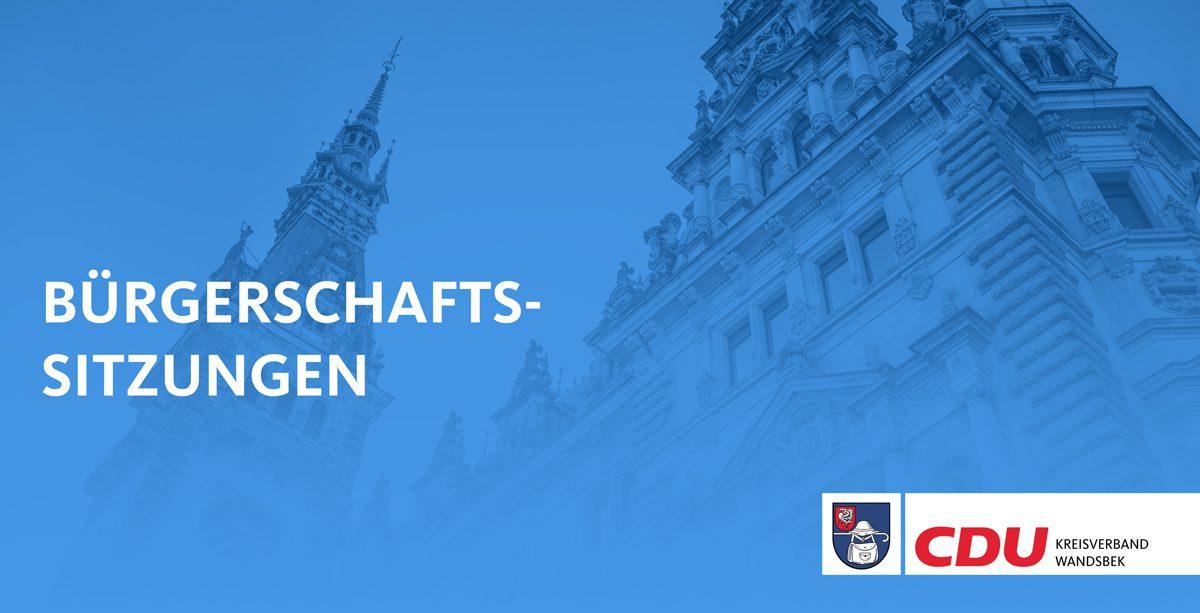 Bürgerschaftssitzungen Kreisverband Wandsbek