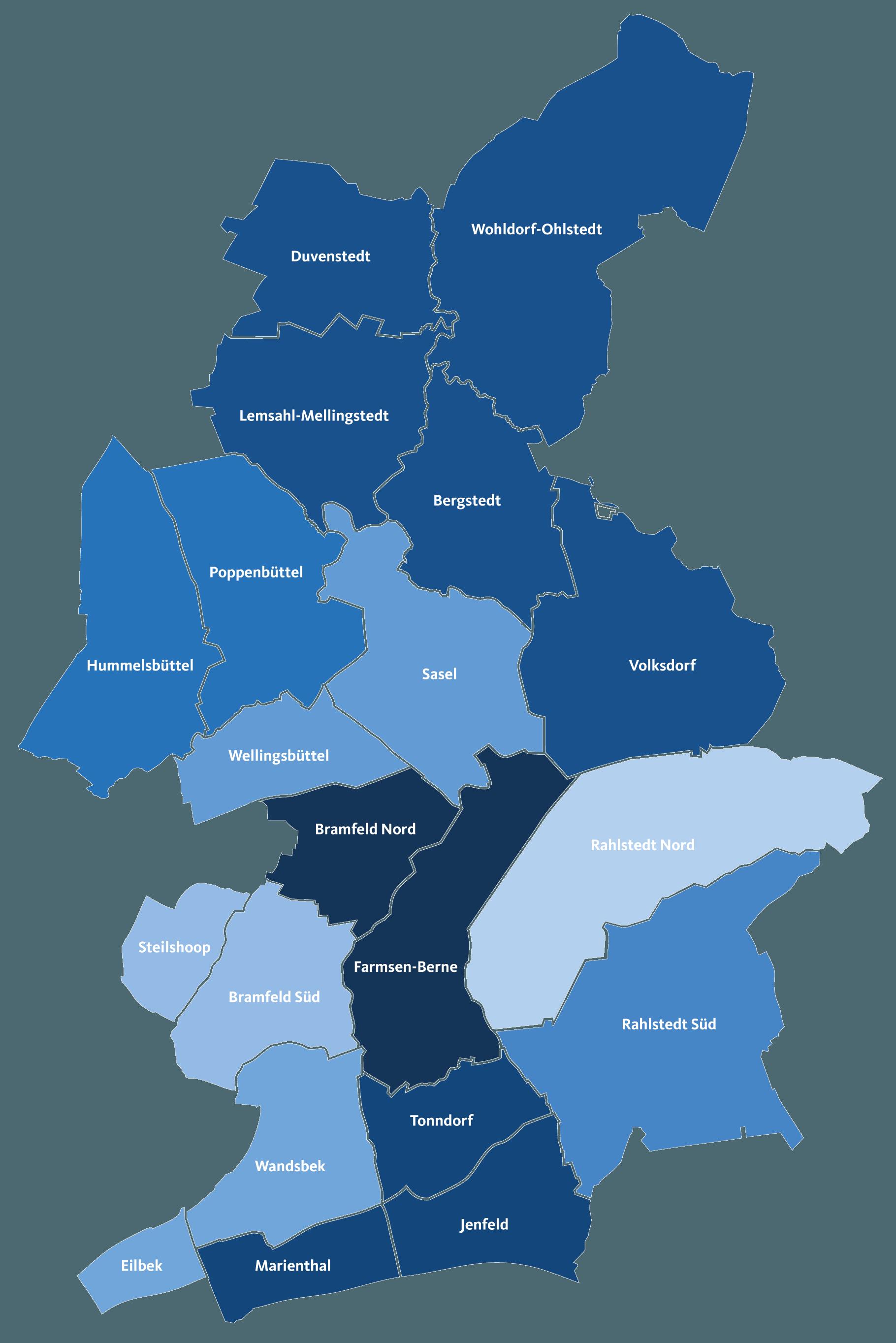 Wahlkreise Bezirksversammlungswahlen 2019 CDU-Kreisverband Wandsbek