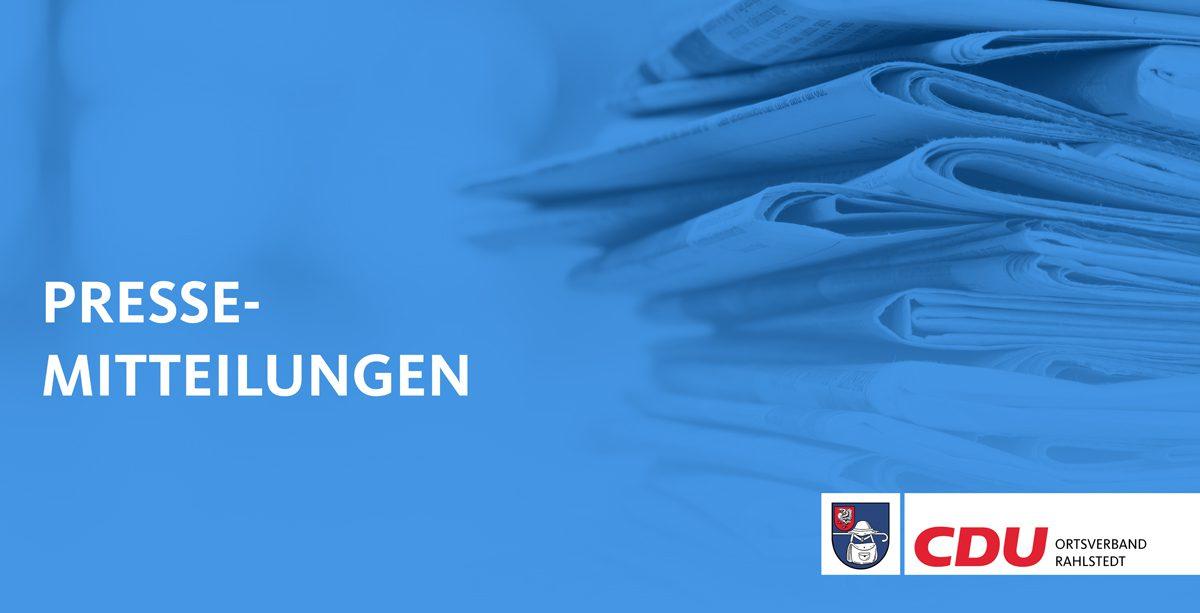 Titelbild Pressemittelungen Ortsverband Rahlstedt