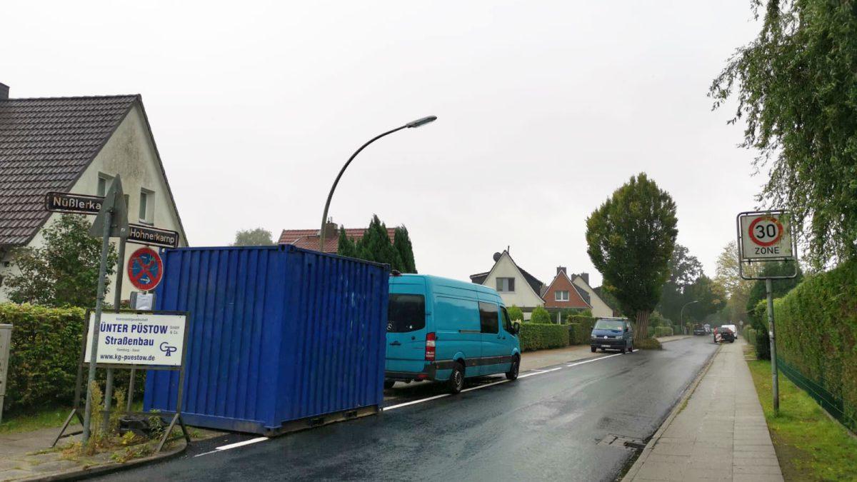 Ertüchtigung des Straßenbelages im Hohnerkamp, zwischen Berner Chaussee und Nüßlerkamp