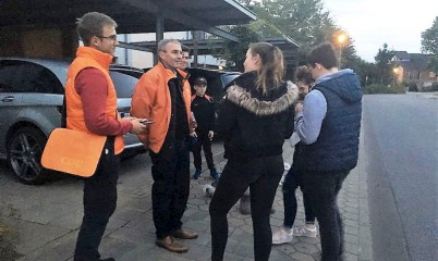 19. September 2017 – Junge Union Rahlstedt – von Tür zu Tür Wahlkampf mit Eckard Graage