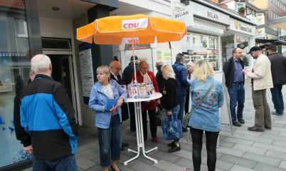 06.04.2019 – Infostand in der Schweriner Straße