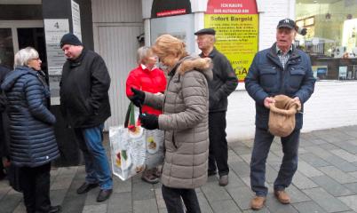 17.12.2016 – Infostand in der Schweriner Straße