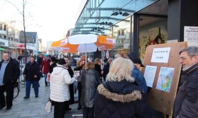 28.01.2017 – Infostand in der Schweriner Str. vor dem Abgeodnetenbüro Haus Nr. 4