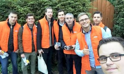 22. September 2017 – Junge Union Rahlstedt – Wahlkampf von Tür zu Tür – Unterstützung für den Bundestagskandidaten im Wahlkreis Wandsbek Eckard Graage