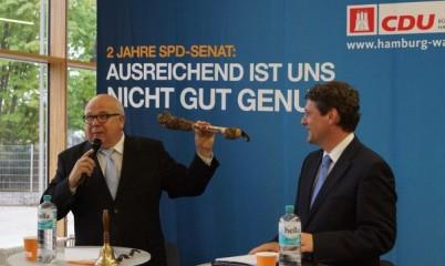 """""""2 Jahre SPD-Senat – Ausreichend ist nicht genung"""" – Dietrich Wersich am 14.Mai 2013 zu Besuch in Rahlstedt"""