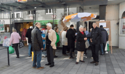 25.03.2017 – Info-Stand in der Schweriner Straße