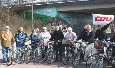 CDU – Rahlstedt unterwegs mit dem Fahrrad durch den Stadteil