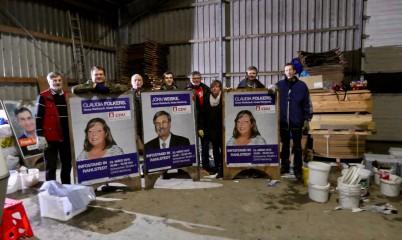14.03.2019 – Plakate Kleben wg. Wahlen zur Bezirksversammlung Wandsbek