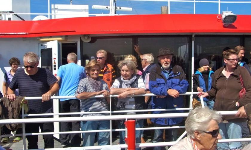 "02. August 2016 Helgoland - Tagesfahrt mit dem Hochseekatamaran ""Halunderjet"""